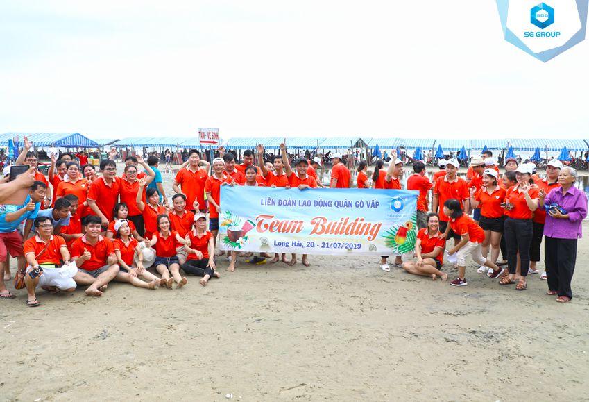 Liên đoàn Lao động quận Gò Vấp tại bãi biển Long Hải