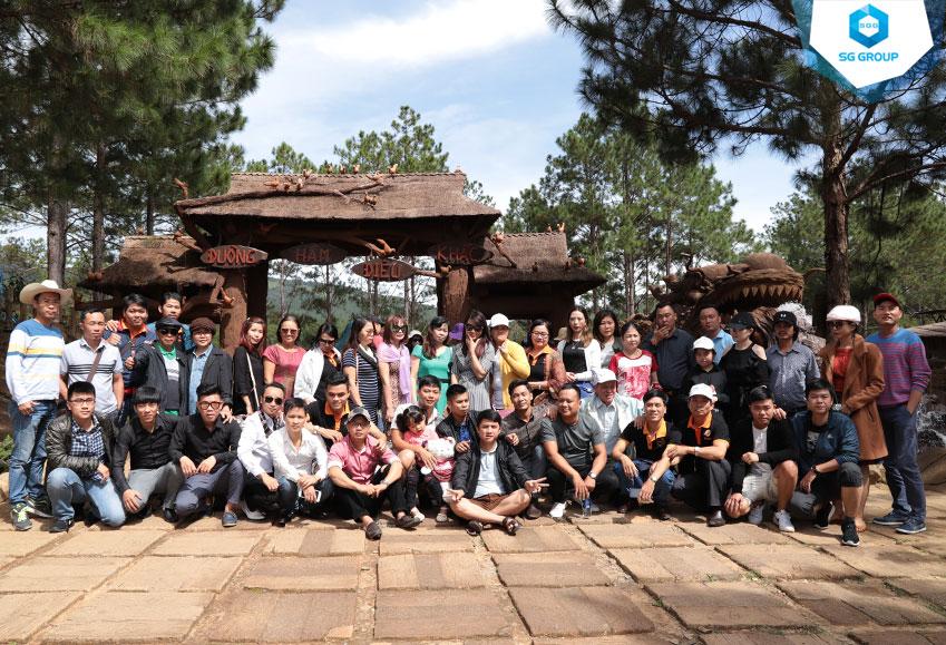 Union team tại đường hầm đất sét Đà Lạt