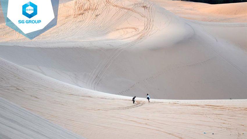 Đồi cát bay Mũi Né không khác gì một xa mạc rộng lớn