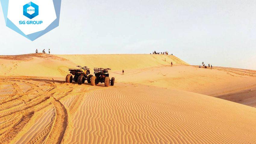 Những gợn sóng trên cát tại đồi cát bay Mũi Né được tạo bởi những cơn gió