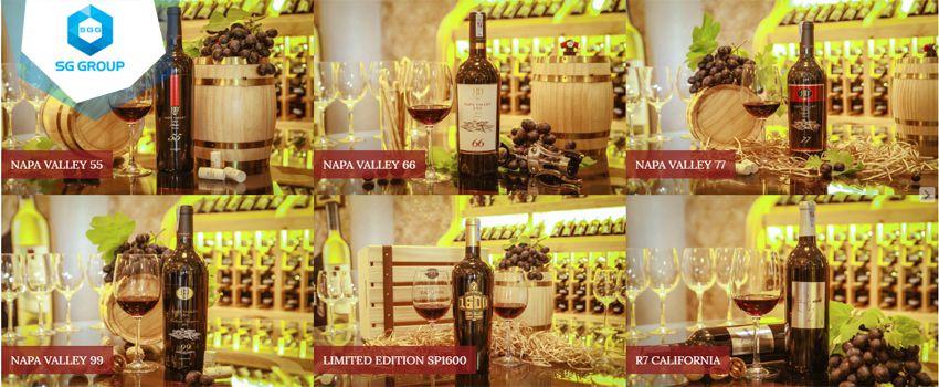 Các loại rượu vang tại Wine Castle Mũi Né